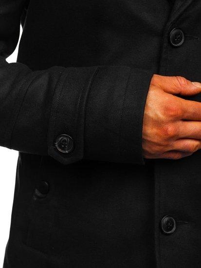 Чорне чоловіче зимове пальто Bolf 3135