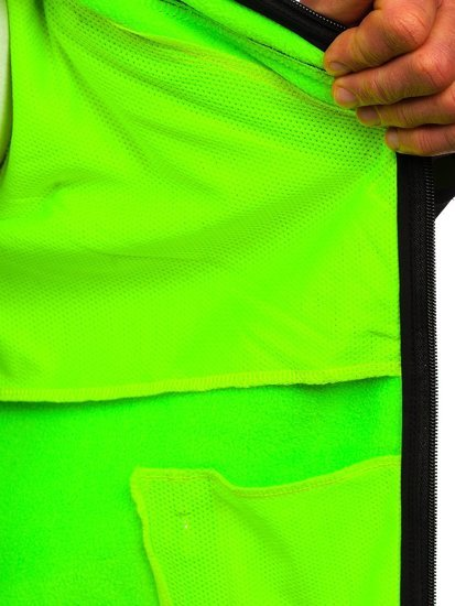 Чорно-зелена чоловіча куртка софтшелл Bolf HH023