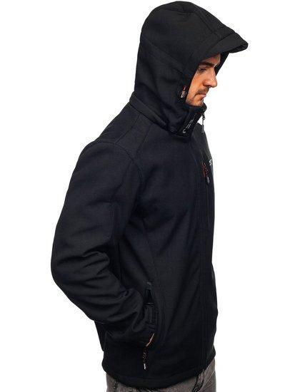 Чорно-червона чоловіча куртка софтшелл Bolf WX061