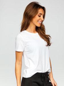 Біла жіноча футболка без принта Bolf SD211