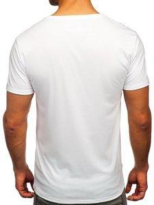 Біла чоловіча футболка з принтом Bolf Y70001