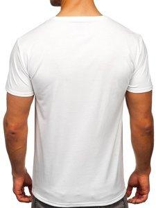 Біла чоловіча футболка з принтом Bolf Y70011