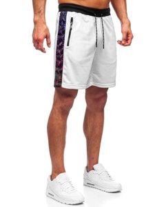 Білі чоловічі спортивні шорти Bolf KS2578