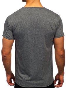 Графітова чоловіча футболка з принтом Bolf KS2650