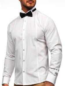 Сорочка чоловіча BOLF 4702 метелик+запонки біла