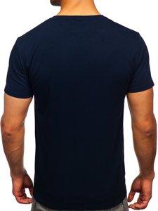 Темно-синя чоловіча футболка з принтом Bolf Y70003