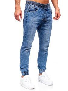 Темно-сині чоловічі джинси джоггери Bolf K10003
