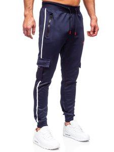 Темно-сині чоловічі спортивні штани карго Bolf K10281