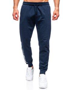 Темно-сині чоловічі спортивні штани Bolf 8624