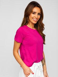 Фуксія жіноча футболка без принта Bolf SD211
