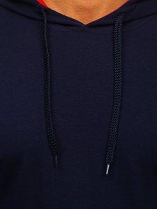 Чоловіча толстовка з капюшоном темно-синя Bolf 145380-1