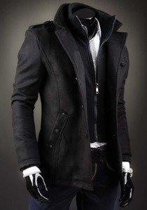 Чоловіче пальто чорна Bolf 8853D