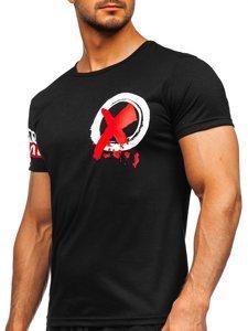 Чорна чоловіча футболка з принтом Bolf HY801