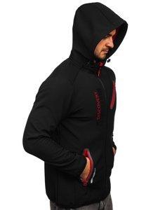 Чорно-червона чоловіча куртка софтшелл Bolf HH023