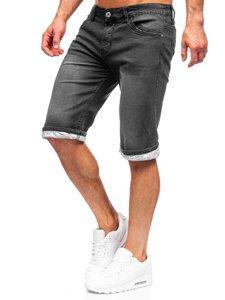 Чорні джинсові шорти чоловічі Bolf k15004-2
