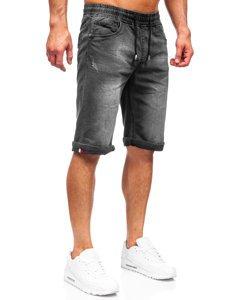Чорні джинсові шорти чоловічі Bolf k15010-2