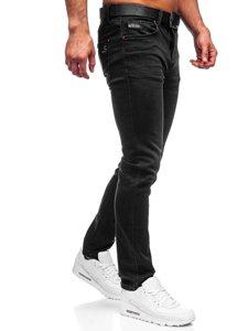 Чорні чоловічі джинси regular fit з ременем Bolf 30054s0